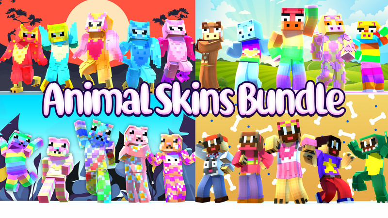 Animal Skins Bundle on the Minecraft Marketplace by House of How