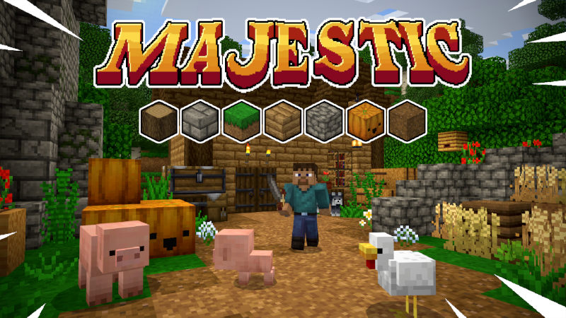 Majestic Texture Pack on the Minecraft Marketplace by Tomaxed