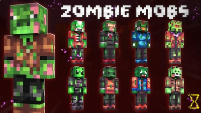 Zombie Mobs on the Minecraft Marketplace by Hourglass Studios
