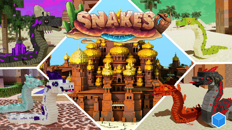 Snakes on the Minecraft Marketplace by CubeCraft Games