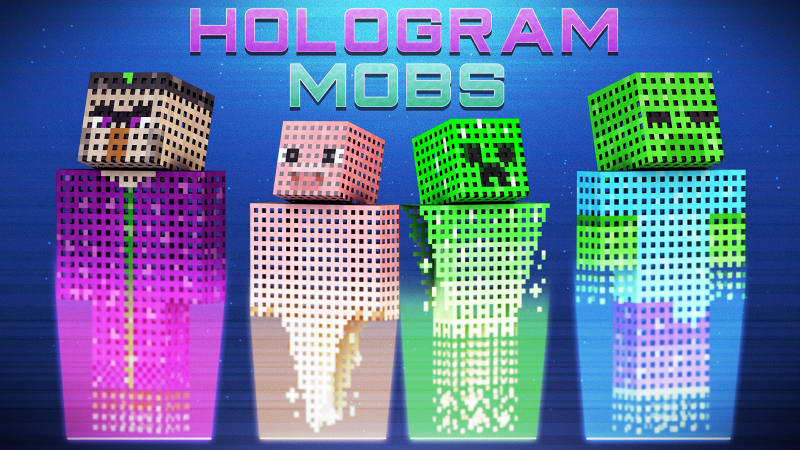 Hologram Mobs on the Minecraft Marketplace by 57Digital