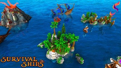 Survival Ships on the Minecraft Marketplace by 4KS Studios
