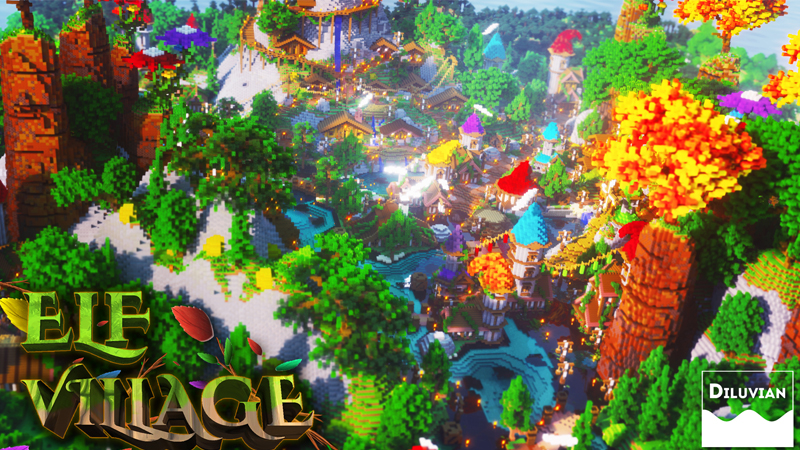 Elf Village on the Minecraft Marketplace by Diluvian