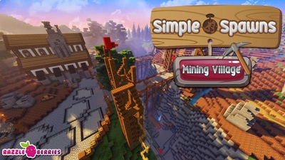 Simple Spawns Mining Village on the Minecraft Marketplace by Razzleberries