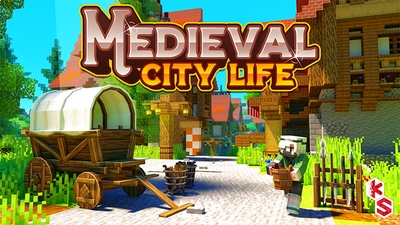 Medieval City Life on the Minecraft Marketplace by Kreatik Studios