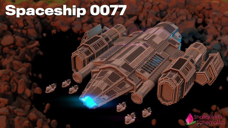 Spaceship 0077 on the Minecraft Marketplace by Shaliquinn's Schematics