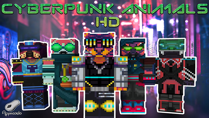 Cyberpunk Animals HD on the Minecraft Marketplace by Appacado