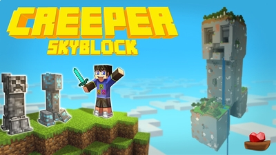 Creeper Skyblock on the Minecraft Marketplace by Lifeboat
