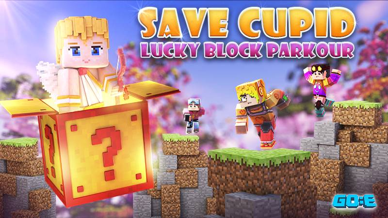 Save Cupid Lucky Block Parkour on the Minecraft Marketplace by GoE-Craft
