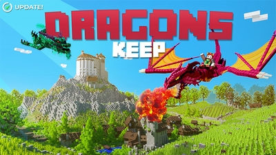 Dragons Keep on the Minecraft Marketplace by Aurrora
