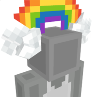 Rainbow Headband on the Minecraft Marketplace by BLOCKLAB Studios