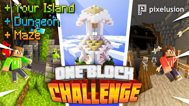 One Block Challenge on the Minecraft Marketplace by Pixelusion