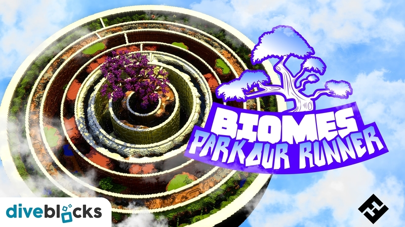 Parkour Runner Biomes on the Minecraft Marketplace by Diveblocks