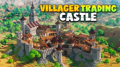 Villager Trading Castle on the Minecraft Marketplace by Fall Studios