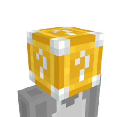 Lucky Block Helmet on the Minecraft Marketplace by BLOCKLAB Studios
