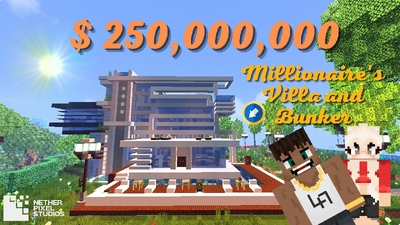 Millionaires Villa and Bunker on the Minecraft Marketplace by Netherpixel