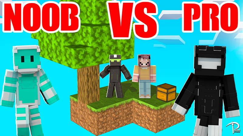 Skyblock NOOB VS PRO Skins on the Minecraft Marketplace by Pickaxe Studios