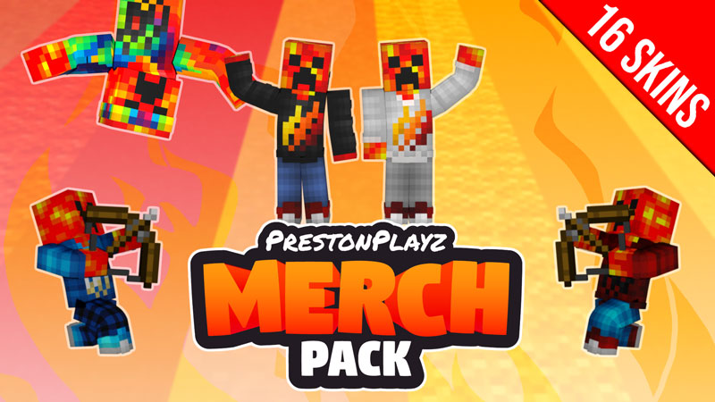PrestonPlayz Merch Pack on the Minecraft Marketplace by Meatball Inc