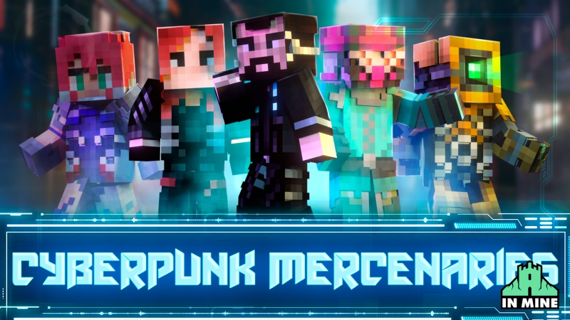Cyberpunk Mercenaries on the Minecraft Marketplace by In Mine