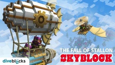 The Fall of Stallon Skyblock on the Minecraft Marketplace by Diveblocks