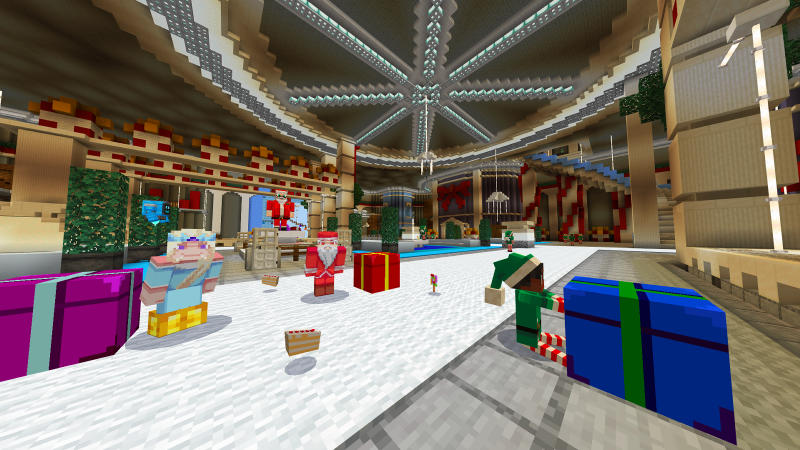 Santa's Palace on the Minecraft Marketplace by BLOCKLAB Studios