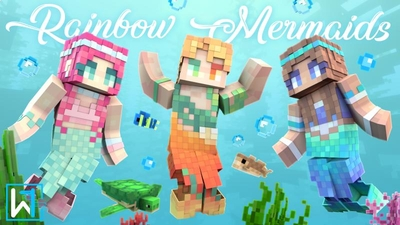 Rainbow Mermaids on the Minecraft Marketplace by Waypoint Studios