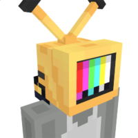 Yellow Tv Head on the Minecraft Marketplace by Glowfischdesigns