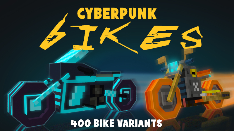 Cyberpunk Bikes on the Minecraft Marketplace by Mine-North