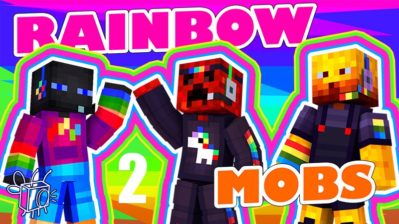 Rainbow Mobs 2 on the Minecraft Marketplace by Blu Shutter Bug