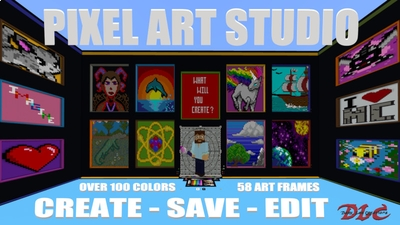 Pixel Art Studio on the Minecraft Marketplace by Dark Lab Creations