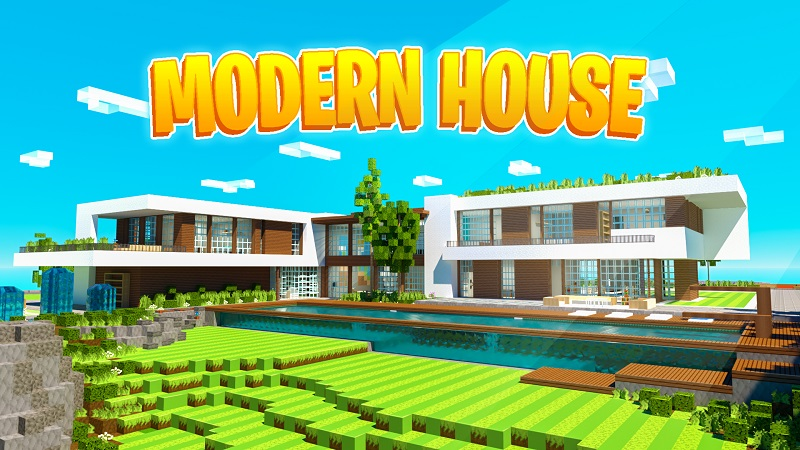 Modern House on the Minecraft Marketplace by BBB Studios