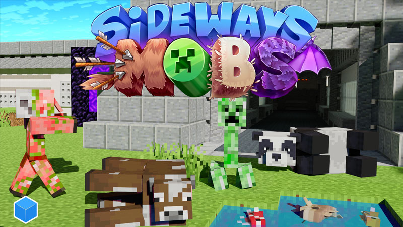 Sideways Mobs on the Minecraft Marketplace by CubeCraft Games