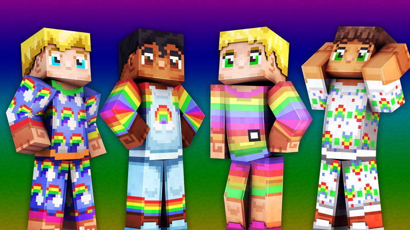Rainbow PJs on the Minecraft Marketplace by 57Digital