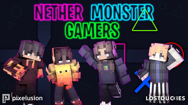 Nether Monster Gamers on the Minecraft Marketplace by Pixelusion