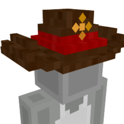 Cowboy Sheriff Hat on the Minecraft Marketplace by Dragnoz