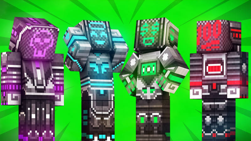 Emoji Bots Neon 40 on the Minecraft Marketplace by 57Digital
