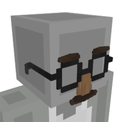 Moustache Glasses on the Minecraft Marketplace by RareLoot