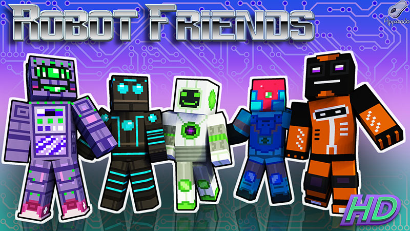 Robot Friends HD on the Minecraft Marketplace by Appacado