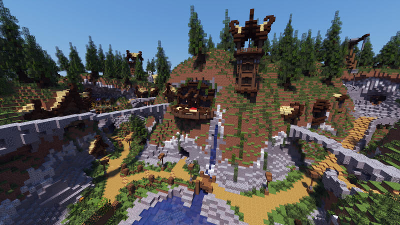 Mountain Village on the Minecraft Marketplace by BLOCKLAB Studios
