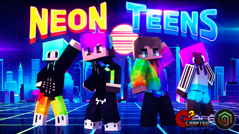 Neon Teens on the Minecraft Marketplace by G2Crafted
