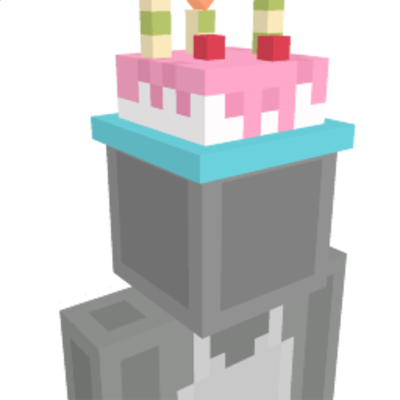 Birthday Cake Hat on the Minecraft Marketplace by Giggle Block Studios