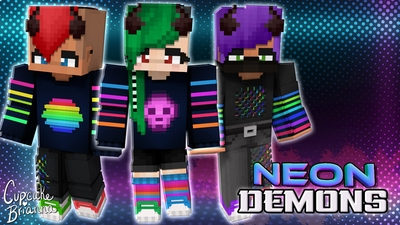 Neon Demons HD Skin Pack on the Minecraft Marketplace by CupcakeBrianna