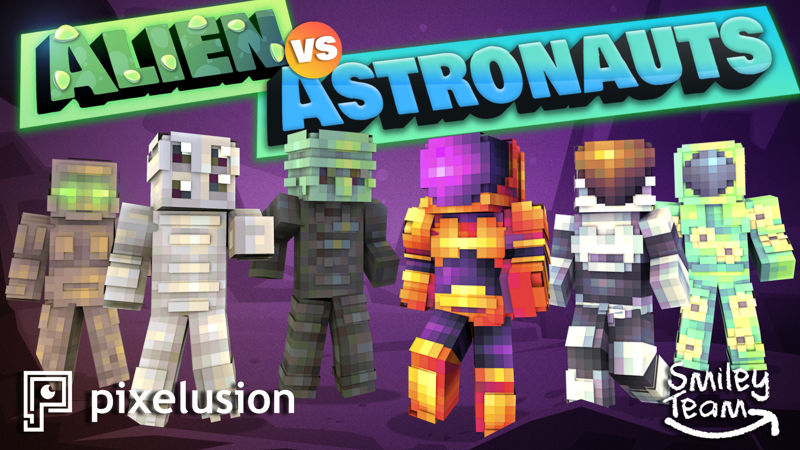 Alien vs Astronauts on the Minecraft Marketplace by Pixelusion