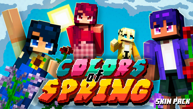 Colors of Spring Skin Pack on the Minecraft Marketplace by Square Dreams