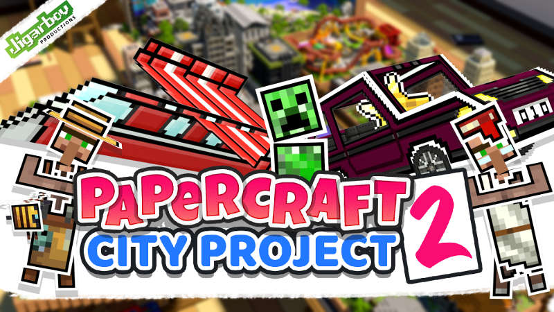 Papercraft 2 City Project on the Minecraft Marketplace by Jigarbov Productions