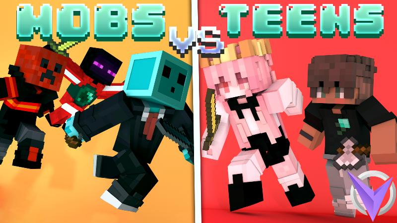 Mobs VS Teens on the Minecraft Marketplace by Team Visionary