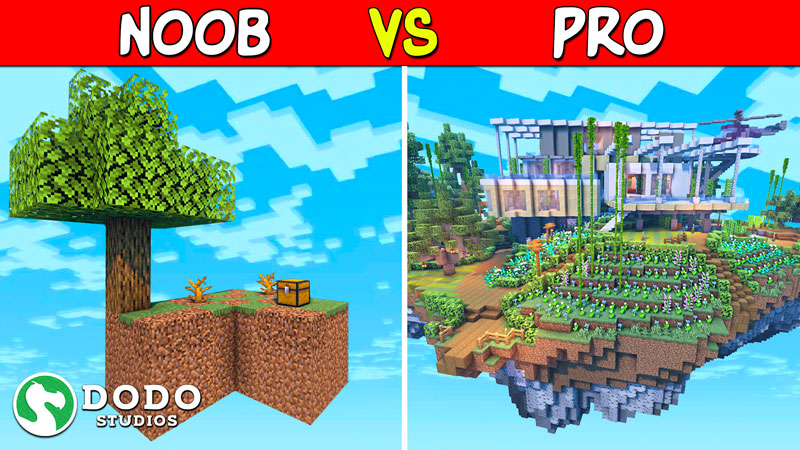 Noob VS Pro Skyblock on the Minecraft Marketplace by Dodo Studios