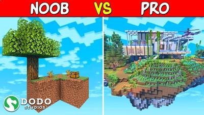 Noob VS Pro Skyblock on the Minecraft Marketplace by Dodo Studios