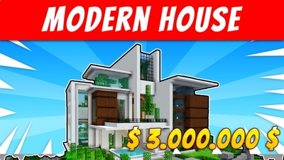 Modern House 4 on the Minecraft Marketplace by VoxelBlocks