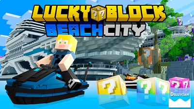 Lucky Block Beach City on the Minecraft Marketplace by Diluvian